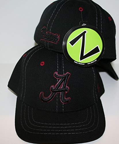 ZHATS University of Alabama Crimson Tide Bama Black Element A Fitted Mens Adult Hat/Cap Baseball Size -