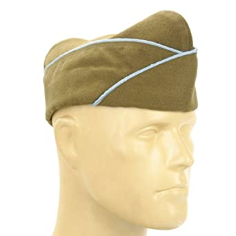 1940s Mens Hat Styles and History U.S. WWII Issue Garrison Cap- Infantry & Paratrooper: Size US 7 1/2 60 cm $29.95 AT vintagedancer.com
