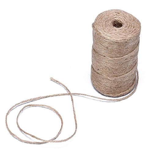 FairOnly Rustic Natural Jute Hessian Burlap Twine Hemp Twist Rope Tag String Ribbon Cords 3 Ply 50m Show