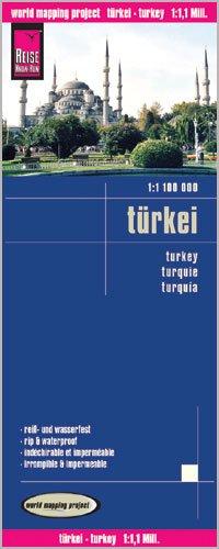 Turkey & Cyprus 1:1,100,000 Travel Map, waterproof, GPS-compatible REISE