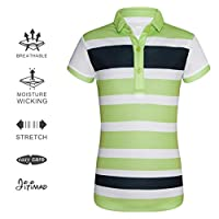 JITIMAO Girls Golf Dry Fit Polo Shirt for Age 5-15, Breathable Performance Short Sleeves T-Shirt Slim Fit
