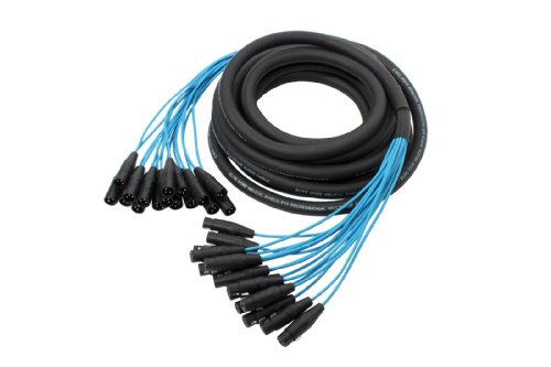 Elite Core PEX1630 | 16 Channel Fan To Fan XLR Extension Snake | 30' ft by Elite Core