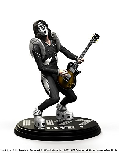 ited Edition Collectible Statue - Alive The Spaceman Rock Iconz, Officially Licensed by KISS, Includes CoA ()