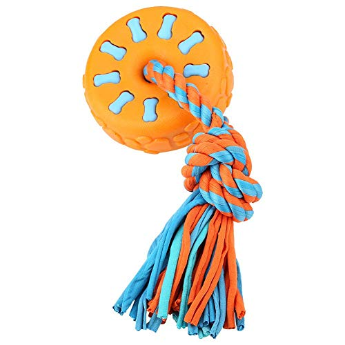(Pssopp Dog Chew Toys, TPR Durable Flywheel Dog Toy Puppy Teething Clean Toys Interactive Dog Toy for Pet IQ Training Playing Chewing (Orange))