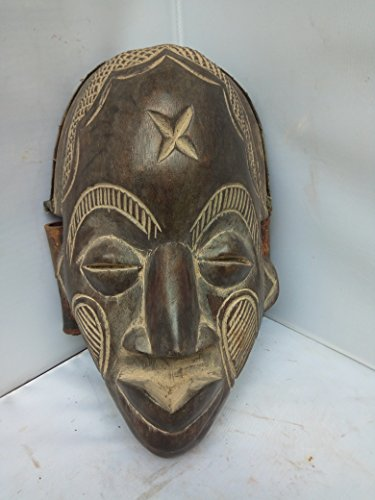 Antique Chokwe Bamboo Mask From Congo and Angola 12x8 in