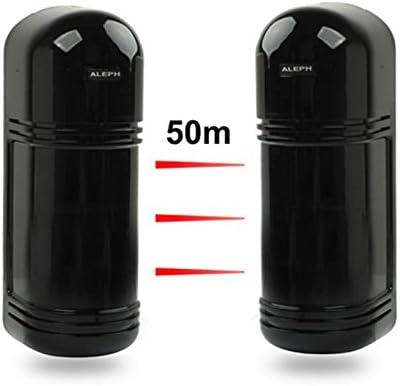 Barrière infrarouge 3 rayons portée 50m détecteur anti ...