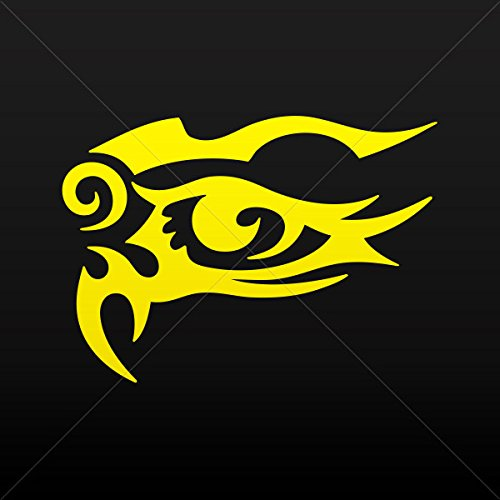 Decals Decal Tribal Design Tatto Style Eye Garage Sports car Yellow (4 X 2.84 Inches) from Tribal Various sizes