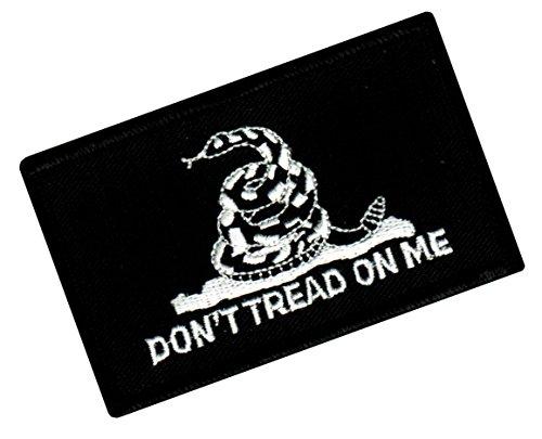 DONT TREAD ON ME GADSDEN FLAG PATCH AMERICAN BLACK w/ VELCRO