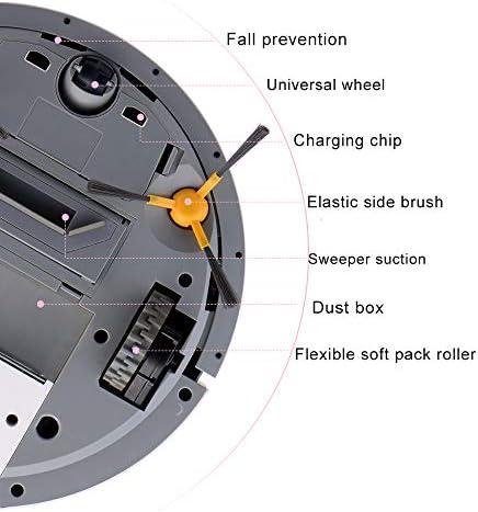 Aspirateur Robot Domestique, Robot de Balayage Ultra-Mince Intelligent, aspirateur Silencieux à Forte Aspiration, aspirateur à économie d\'énergie Auto-Rechargeable, Rose
