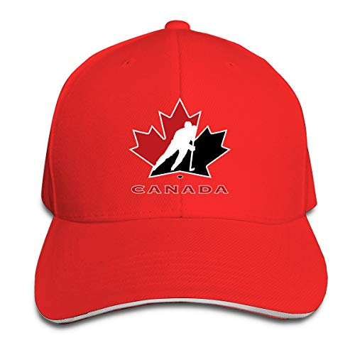 Canada National Ice Hockey Team Logo Unisex Adjustable Baseball Hat Classic Cotton Trucker Dad Cap