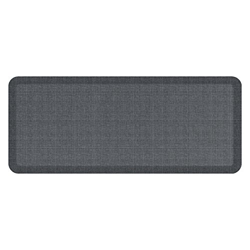 "NewLife by GelPro Anti-Fatigue Designer Comfort Kitchen Floor Mat, 20x48'', Tweed Nickel Grey Stain Resistant Surface with 3/4"" Thick Ergo-foam Core for Health and Wellness by NewLife by GelPro"