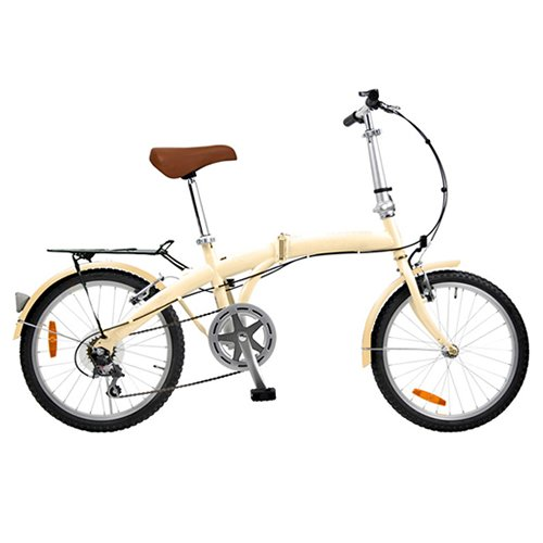 20インチ シンプル折り畳み自転車 アイボリー (変速無し) TMN2001AW-IV B00451AT24