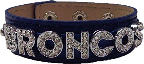 - Broncos Blue Leather Bracelet
