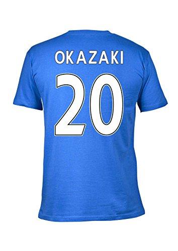 Gildan Leicester City 2016 Premier League Champions T-Shirt (Okazaki 20) Blue