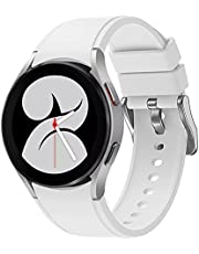 Hspemo Horlogebandjes, compatibel met Samsung Galaxy Watch 4 Classic, 40/42/44/46 mm, siliconen reserveband, verstelbare sportsmartwatch, armband, horlogeband, reserveband