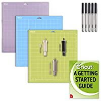 Cricut Maker and Explore Air 2 Blade Accessories Kit: Variety (3) GripMats, and Pen Set Bundle