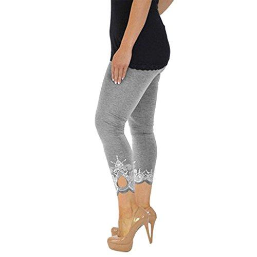 Hzjundasi Donna Da Vita Alta Sportivi Grigio Donna Da Elasticizzati Calzamaglia Pantaloni Slim A Leggins 14r1wq