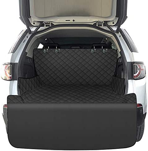 J&C SUV Cargo Liner for Dogs, Scratchproof Pet Cargo Cover for SUV with Bumper Flap Protector, Waterproof Dog Seat Cover Mat for Car SUVs Sedans Vans