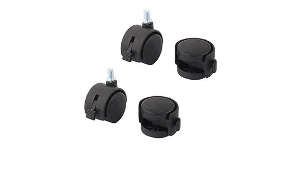 eDealMax rueda Doble tornillo de tipo giratorio de bloqueo de frenos Caster 1, 5 pulgadas de diámetro 4 piezas: Amazon.com: Industrial & Scientific