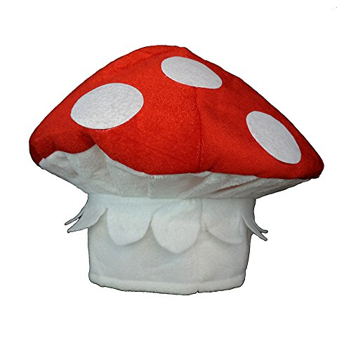 (Plush Spotted Red & White Mushroom Novelty Hat)