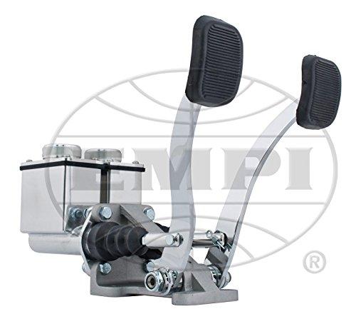 EMPI 16-2530-0 RACE TRIM Dual Pedal Assembly, 3/4'' Clutch - 7/8'' Brake, Polished by Empi (Image #1)