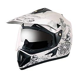 Vega – OR-D/V-SKT-WS_M Off Road D/V Sketch White Silver Helmet-M
