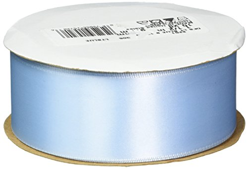 Offray Double Face Satin Craft Ribbon, 1-1/2-Inch Wide by 10-Yard Spool, Light Blue