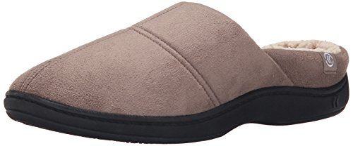 Isotoner Men's Microsuede Hoodback Thinsulate Flat Taupe