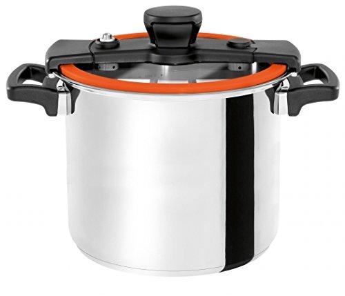 Wisconsin Aluminum S10O The Sizzle 10 Liter Pressure Cooker44; Orange