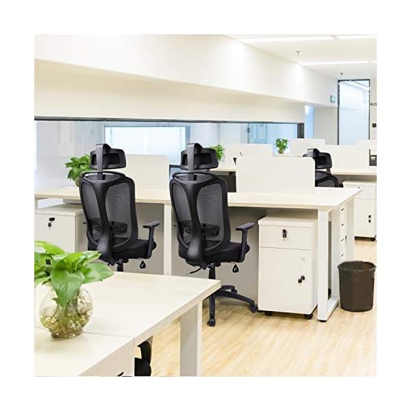 INTEY Chaise de Bureau Ergonomique, Dossier Verouillage, Fauteuil de Bureau avec Accoudoir Réglables et Têtière, Soutien…