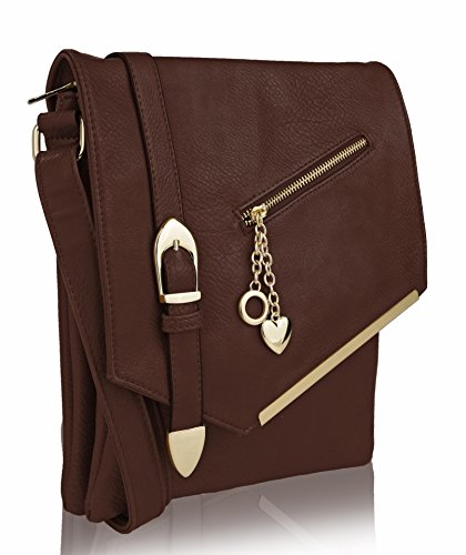 MKF Collection Jasmine Women Stylish Vintage Crossbody Bag Fashion Flap over Handbag