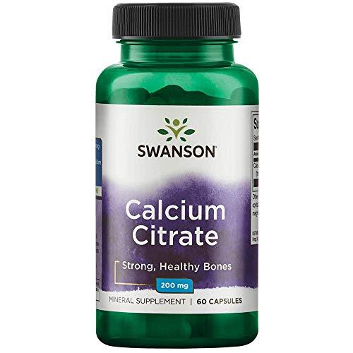 Swanson Calcium Citrate 200 Milligrams 60 Capsules