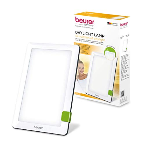 Beurer Daylight Sun Lamp, Portable BrightLight, 10,000 Lux Bright White Light Simulation Therapy, TL30
