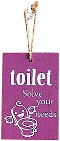 IMIKEYA Holz-Dekoration zum Aufhängen von Toilettentür, Willkommensbrett, zum Basteln, zufällige Farbe