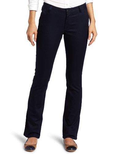 - Lee Uniforms Juniors Curvey Straight Leg Pant, Navy, 5