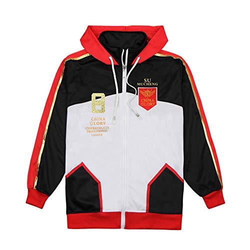 (Gumstyle Anime The King's Avatar Zip Hoodie Jacket Adult Cosplay Sweatshirt Coat 8-M)