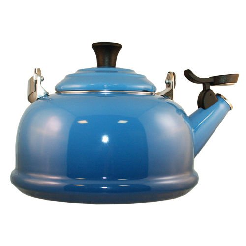 Le Creuset Whistling Tea Pot Kettle Marseille Blue Enameled
