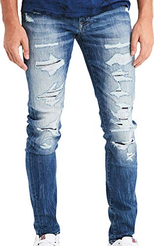 American Eagle Mens Ne(X) t Level Skinny Jean, Destroyed Medium Wash (32x30)