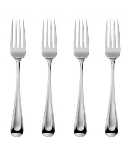 Oneida Satin Sand Dune Dinner Forks, Set of 4