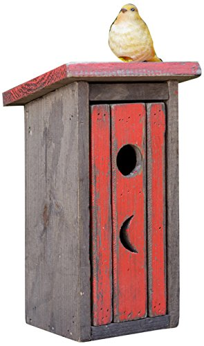 - Your Heart's Delight Outhouse Birdhouse, 6 by 10-1/4 by 5-Inch