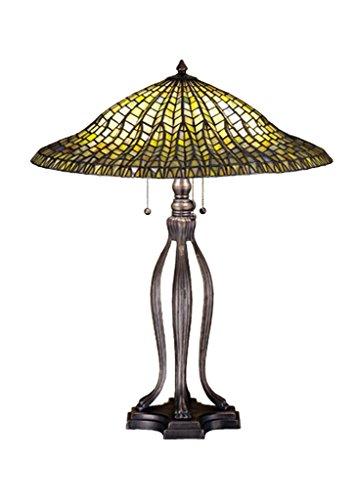 Meyda Tiffany Tiffany Lotus Leaf 30 H Table Lamp with Bowl Shade