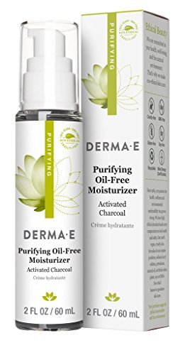 DERMA E Purifying Oil-Free Moisturizer with Advanced Charcoal, 2 Oz