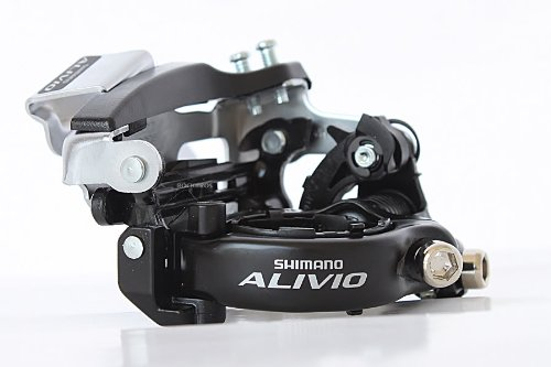 SHIMANO Alivio Umwerfer FD-M412 31,8/34,9 mm 7/8S, Schwarz