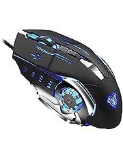 ماوس العاب S20 سلكي بمنفذ USB | قابل للبرمجة | ماوس ضوئي مريح | مع مصابيح LED وامضة| لاجهزة الكمبيوتر واللاب توب من اولا