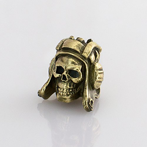 Awesome Paracord Bead SKULL AVIATOR for Survival Bracelet or Knife Lanyard