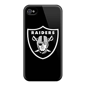 L.M.CASE Design High Quality Oakland Raiders 2 Cover Case With Excellent Style For Iphone 4/4s
