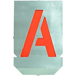 Set of Metal Lettering Stencils - A-Z - 30mm