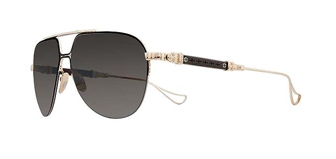 eac3a7b77ade Amazon.com  Chrome Hearts - Full Metal Chicken- Sunglasses (Matte Black Gold  Plated - Wood Ebony Walnut Ebony