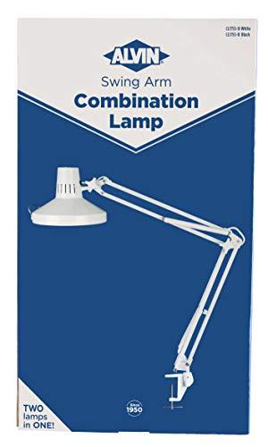 Alvin CL1755-D White Swing-Arm Combination Lamp