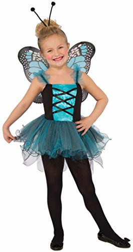 Forum Novelties Kids Fluttery Blue Butterfly Costume, Blue, Medium